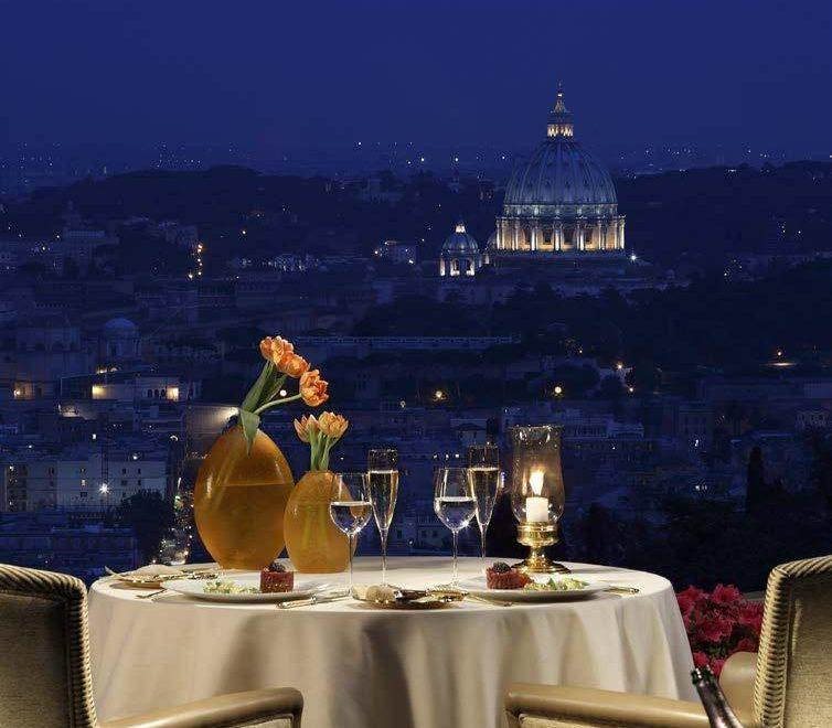 Rome-Dinner-View